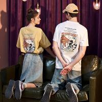 [直降]新款情侣装夏装短袖T恤男潮牌潮流半袖ins衣服女宽松夏天