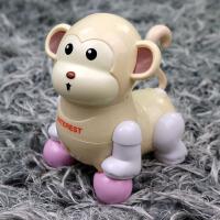卡通小海豚动物会跑会走路 婴幼儿电动玩具0-1岁1-2-3男孩女宝宝 小猴子 黄色 送电池+螺丝刀工具