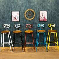 铁艺复古吧台椅星巴克高脚凳时尚创意椅子简约现代吧凳咖啡厅桌椅