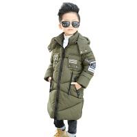 冬季新款童装男童外套大衣大童棉衣冬装加厚儿童中长款棉袄潮 保暖 透气 舒适