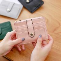梨花娃娃卡包女式 韩国韩版薄款多卡位简约迷你证件位小零钱包