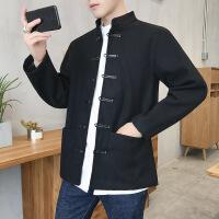 男士风衣冬季修身短款夹克青年男外套