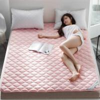 榻榻米床垫床褥子1.8m床双人垫被1.5米学生宿舍防滑折叠保护垫1.2 菱形条- 粉-1.5cm厚