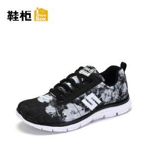 Daphne/达芙妮旗下 鞋柜春季印花运动女鞋涂鸦休闲单鞋
