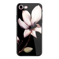iphone7plus手机壳6sPlus全包创意软壳玻璃苹果6潮男女8p硅胶套 6 6s-玻璃曼陀罗