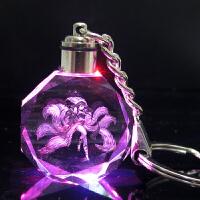 九尾妖狐阿狸 水晶LED灯钥匙扣挂件