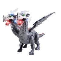 儿童益智电动恐龙模型玩具声光行走仿真双头翼龙儿童玩具