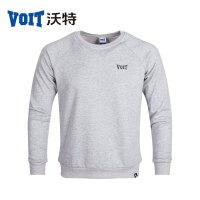 沃特圆领卫衣男套头衫长袖T恤秋冬季黑色灰色休闲学生