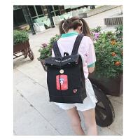 日韩风潮帆布包双肩包女韩版学院风书包百搭小清新休闲背包旅行包