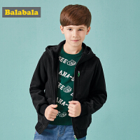 巴拉巴拉童装男童外套秋装2018新款儿童摇粒绒上衣中大童保暖外衣
