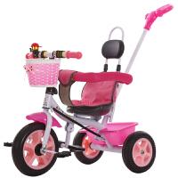 儿童宝宝三轮车脚踏车自行车1-3岁婴儿手推车自行车