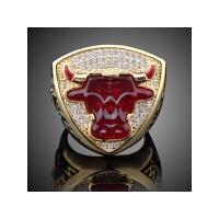 新款 球迷收藏纪念品 1993年 芝加哥公牛队乔丹总戒指 真金色 12#