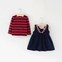 童装女童裙子套装春秋季儿童衣服0一1-3岁小女孩宝宝春装