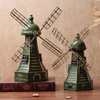 复古荷兰风车模型工艺摆件咖啡厅客厅电视柜酒柜装饰品创意摆设 +
