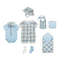 婴儿衣服夏季初生儿套装礼盒宝宝用品满月礼物男