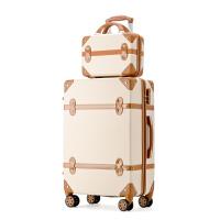 行李箱复古旅行箱男拉杆箱女万向轮韩版大学生小清新密码子母箱包