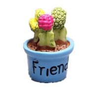 仿真微缩 迷你版小号 仙人掌盆栽 树脂 食玩微景模型摆件玩具