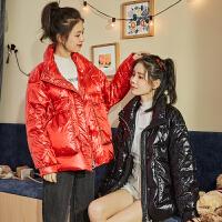 【1件2.5折339.9元】唐狮冬季女新款立领小个子短款工装羽绒服时尚百搭暖冬厚外套
