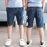 男童夏装中裤童装2018新款儿童牛仔短裤五分裤夏季中大童韩版薄款 牛仔蓝