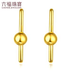 六福珠宝黄金耳钉女DIY百搭款组合耳环可单独佩戴 GMGTBE0009