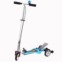 儿童双踏板动力滑板车 折叠三轮自助动力蛙式车 滑板车