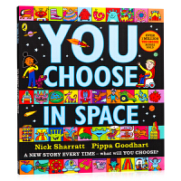 【满300-100】超凡想象益智大书 空间 You Choose in Space 英文原版绘本 想象力培养 名家Nic