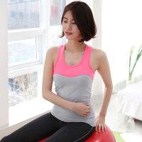 健身跑步背心女户外健身房运动穿无袖背心女运动背心文胸 粉灰色