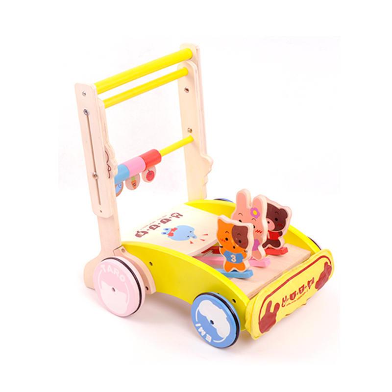 【领券立减50元】米米智玩 婴儿益智儿童玩具木制 宝宝手推学步车 幼儿可折叠手推车 宝宝新年礼物活动专属【领券立减50元】 儿童早教益智玩具大促