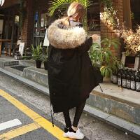冬季新款棉衣女装外套2017韩版中长款大毛领加厚休闲学生棉袄