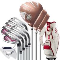 高尔夫球杆女士套杆 钛合金碳素全套轻量化套杆 配白色球包
