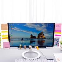 亚克力电脑桌面收纳架屏幕显示器侧边便签贴板透明便利贴板留言板