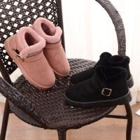 冬季包根棉拖鞋女居家防滑厚底保暖月子毛毛鞋防水高帮女靴子外穿