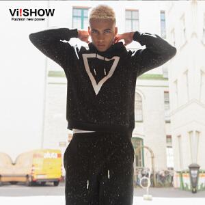 【时尚套装】viishow男装秋装新款男士休闲套装青年时尚两件套长袖套装潮