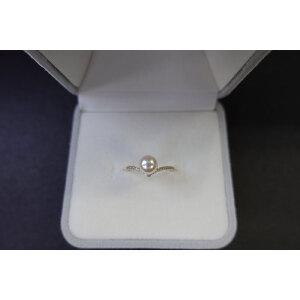 14k金日本akoya珍珠戒指