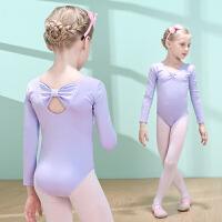 儿童舞蹈服练功服女童长袖连体服装小女孩芭蕾练功服幼儿体操服