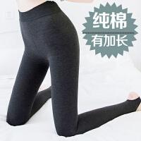 加长加绒打底裤女踩脚加厚棉裤冬季新款高腰保暖裤外穿显瘦