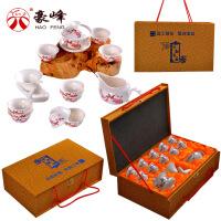 功夫茶具套装家用礼品白瓷14件茶壶茶道茶杯茶盘