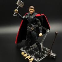 SHF雷神手办模型复仇者联盟4 6寸可动人偶摆件漫威洛基玩具MARVEL
