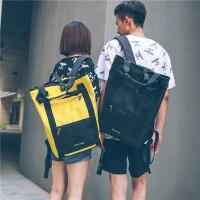 户外运动休闲双肩包男 韩版街头高中学生背包女个性学院风书包