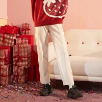 [直降]唐狮冬装新款女牛仔裤宽松直筒裤长裤学生韩版ins潮流小刺绣