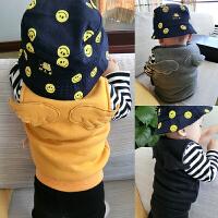 婴儿衣服秋装女童外套装1岁0男宝宝加厚秋冬装马甲