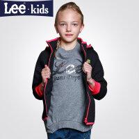 LEE童装儿童短款棉服女童加厚棉衣棉袄保暖中大童外套2rw40754