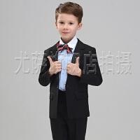 儿童小西服外套礼服上衣宝宝花童演出服夏男童西装套装