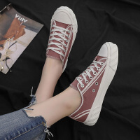 帆布鞋女学生百搭夏季时尚新款网红时尚休闲单鞋chic潮流饼干鞋子