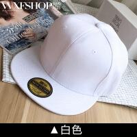 帽子韩版潮款男女情侣纯色棒球帽夏天遮阳鸭舌平沿街舞帽户外 可调节