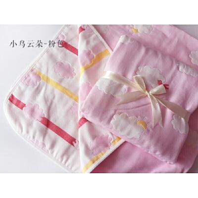 纱布浴巾新生儿婴儿包被宝宝纱布盖毯6层纯棉儿童空调被 很清新~~很文艺~~