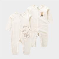 婴儿爬服连体衣男女宝宝睡衣初生儿薄款夏季哈衣2件