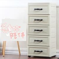 欧式收纳柜特大号加厚仿木储物箱收纳箱抽屉式塑料美式整理柜 p4l