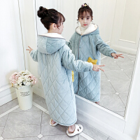 儿童浴袍珊瑚绒女童睡袍冬季宝宝睡衣