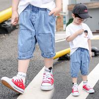 男童夏季装短裤儿童牛仔裤五分裤短款中大童薄款中裤